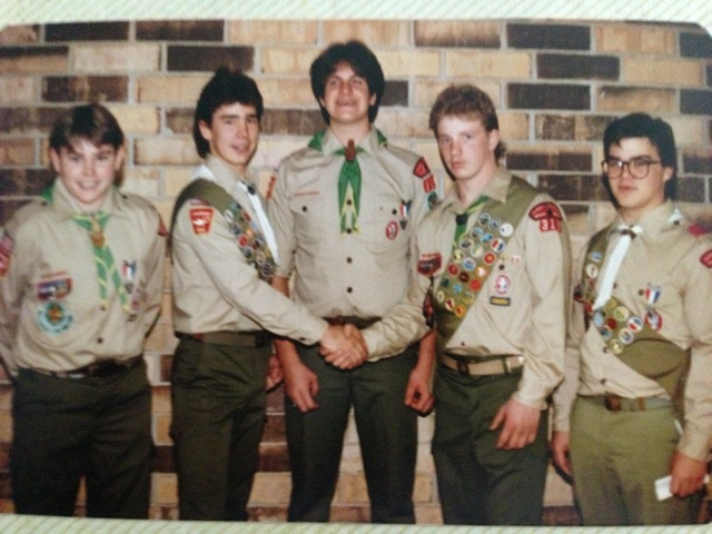 Left to Right: Mique Malloy 1985, Mark Kelbus 1986, Jim Buther 1985, Ray Marquardt 1986, Gregg Smith 1985