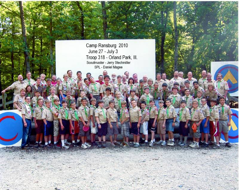 Troop 318 at camp Ransburg 2010. 