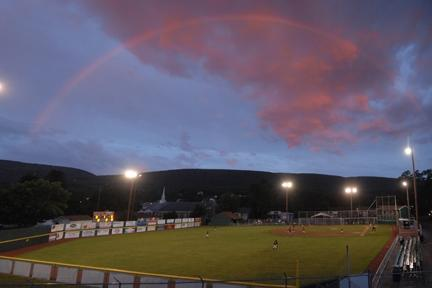 Rainbow over 9th Street Field