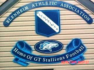 THE BLENHEIM ATHLETIC ASSOCIATION, HOME OF OUR G.T. STALLIONS........