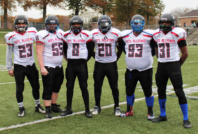 Raven 2017 All-Stars.  Running back and Captain #21 Anthony LaRosa missed the game due to illness.