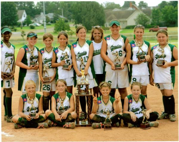 <B><font color=green> *2006 12u Batesville Angels*</font><font color=blue> *Second Place in the Dizzy Dean State and World Series*</B></font>They are seated l to r  Bradi Beard, Katelyn Still, Madison Taylor, Mikki Whitworth. Standing l to  r Victoria Johnson, Lindsey Striplin, Lacey Dubravec, Taylor Sheley, Maryn  McGee, Cricket Turnage(mascot/head chearleader), Meri Morgan Fortune, Jordan  Pointer and Brooke Henson. Not pictured are the coaches. Head coach Derek  Dubravec, assistant coaches Cynthia Still, JoJo Still and Bill McGee.