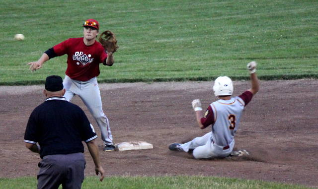Connor Berg slides into second