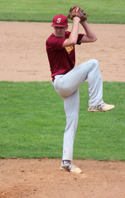Connor Miller pitches