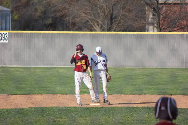 Ty Kloewer on base