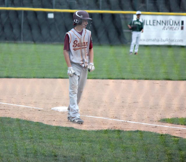 Ty Kloewer on third hoping to come home
