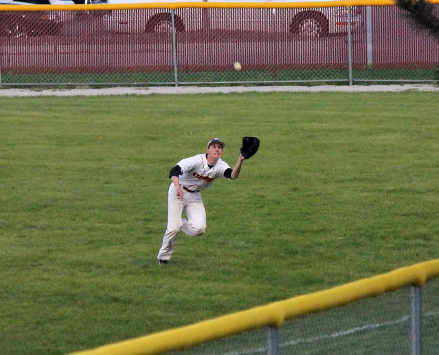 Noah Oswald catch in right field