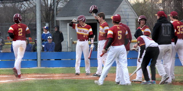 Zach Wiese comes home after hitting one over the fence