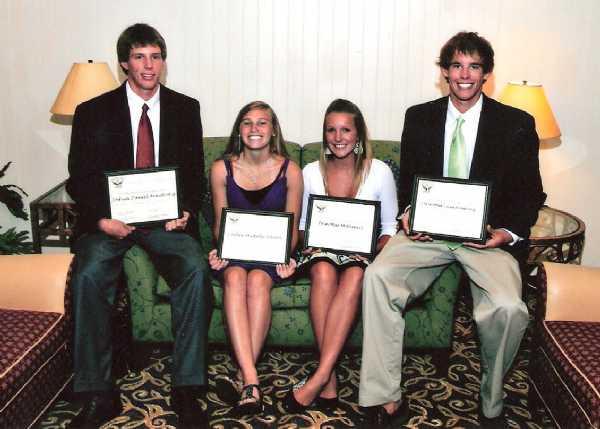 Congrats!  Josh Armstrong, Caitlyn Alberts, Erin McDaniel & Chris Armstrong.