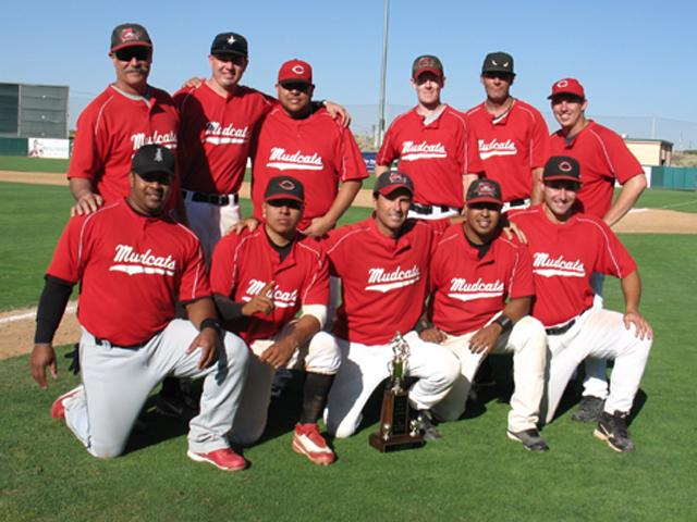 <center><b>2010 Saturday Wood Bat National 25+ Playoff Champions!</center><BR> <center><font size=4 color=red>LA MUDCATS</font></b></center><BR> <center><font size=1 color=black>Top row: Bob Affrunti, Diego Ramirez, Carlos Ramos, Mike Cahill, Pat Armstrong, Dave White<BR> Bottom row: Mike McNeely, Marcos Perez, Dave Becker, Ben Agatep, Seth Craig</font></center><BR>