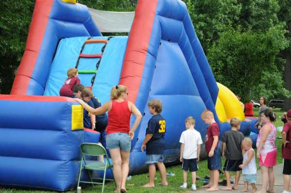 Inflatable giant slide from Party Creations.
