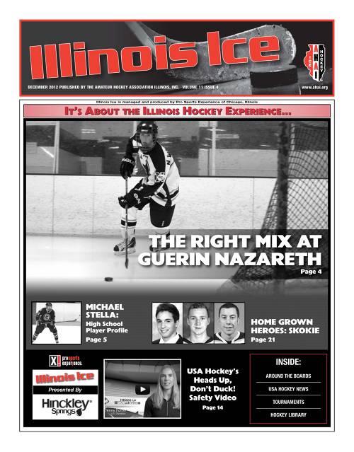 Cover of December 2012 Illinois Hockey Newspaper