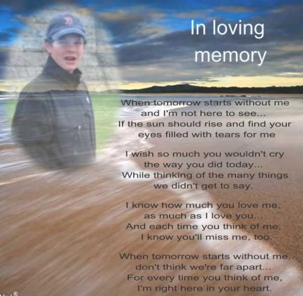 Holt In Loving Memory Poem