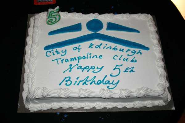 CETC AWARDS 2011 - Saturday 26th November.  - Club 5th Anniversary Birthday Cake - kindly donated by Costco