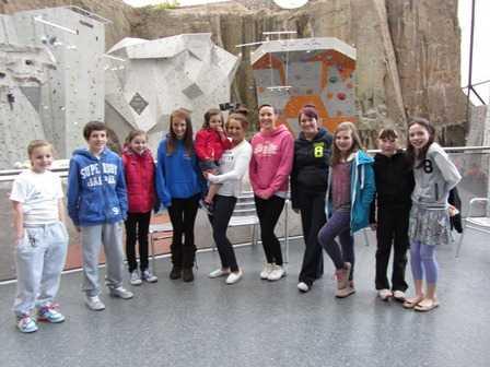 Fun at Ratho Climbing Centre - April 2012