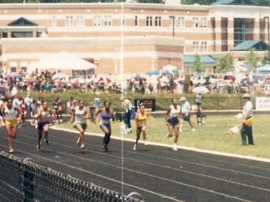 Erica Roberts Ln 1 100 meter dash@ East Coast Invitational