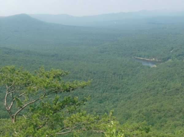 The view from the top of the mountain we rapelled down!  Awesome!