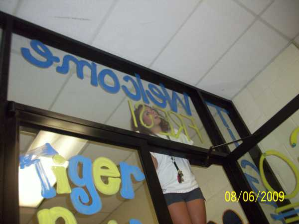We decorated the new Freshman hall doors for the 1st day of school!