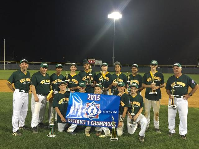 Southern New Jersey District 1 Champions 13 - 15 year old