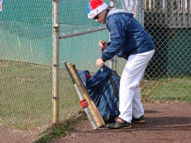 SJ Cardinals' Marty Kay breaks out his 'tools' in preparation for Winterball 2010
