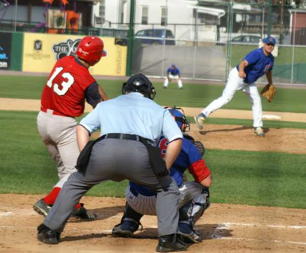 Kevin workin' hard at the plate