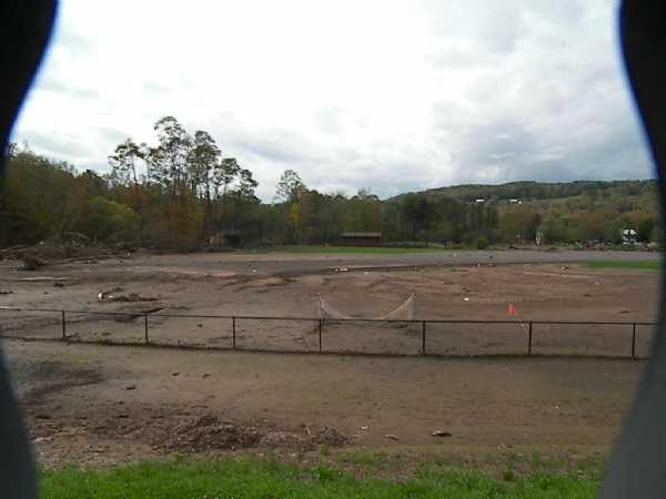 Windham's baseball field after floods
