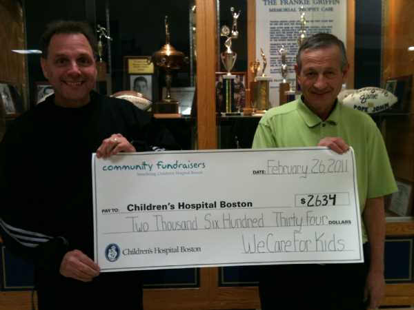 Frank & Bob with the check for the CHildren's Hospital!