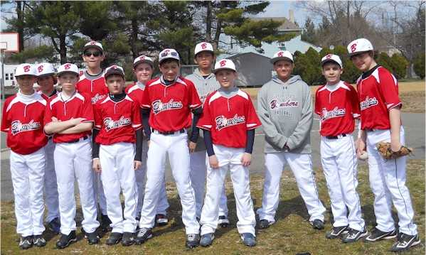 12U Bombers Red Sasso in Red