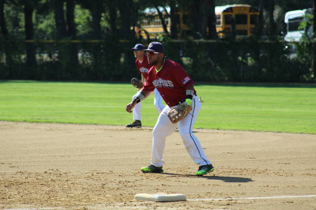 "Julian ""Colombia "" Villarreal manning 1st base"