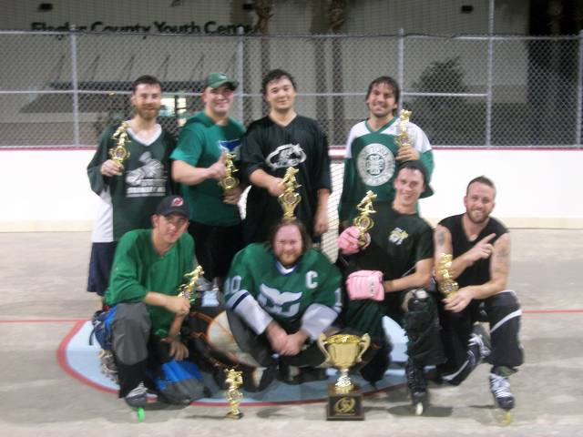 Whalers - (front row, from left to right) Tim Perham, Mike Scavarda, Andrew Kemper, Billy Parker