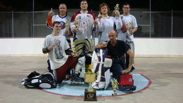 (Back Row - left to right)) Scott Hantz, Mike Campanaro (Captain), Danny McIntyre, Anthony Cimirro