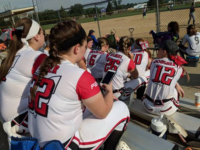 18U Kelemen waiting to see who they play in the semi finals