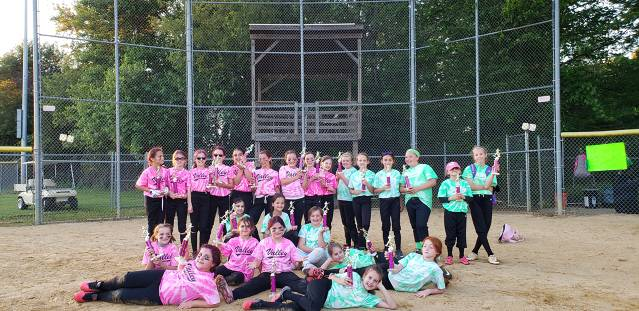 2019 Softball Minors Championship Game - Pink & Green