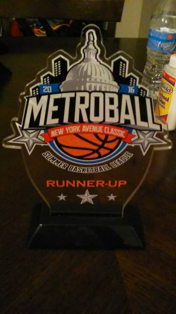 Metro Ball Blacktop 2016 - Runner Up Trophy