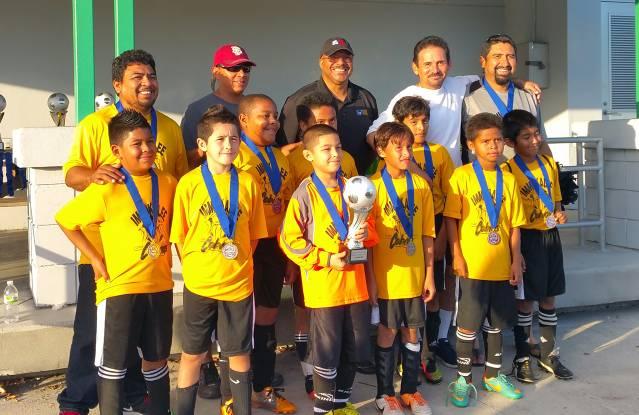 "U10 Boys Capture District Commissioner""s Cup 2015"