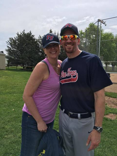 Coach Greg and his wife (Beth) taking a minute for a pic
