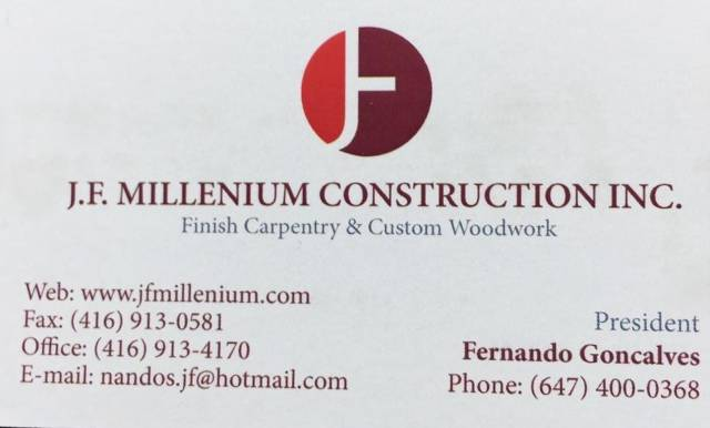 J.F. Millenium Construction Inc.