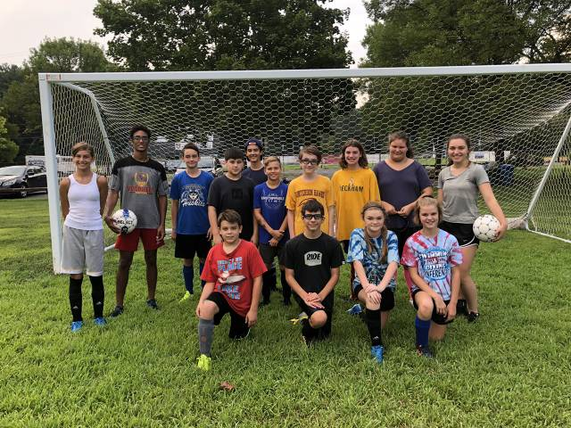 Skills Clinic, led by Laura Markarian and Yachine Wahnon, Senior soccer players at Voorhees High School