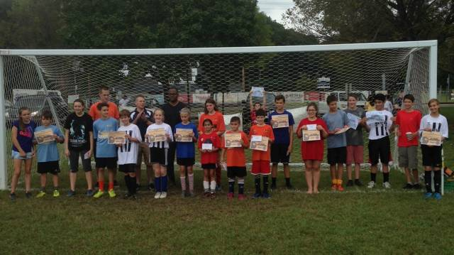 Knights of Columbus penalty kicks competition division winners