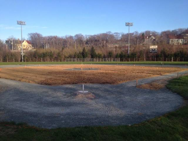 Infield is taking shape !!!