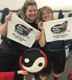 Sicoli Yin Yangs could not narrow it down to one.  Congrats to Krissie Berger and Julie Hazelton for Winning Most Spirited Players!