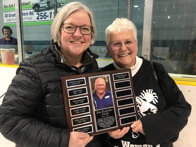 Congrats Margie Skulech - Winner of the Rob Hankinson Award.  Presented by Kim Hankinson