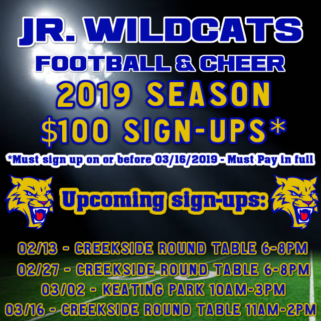 Jr  Wildcats - (Vacaville, CA) - powered by LeagueLineup com