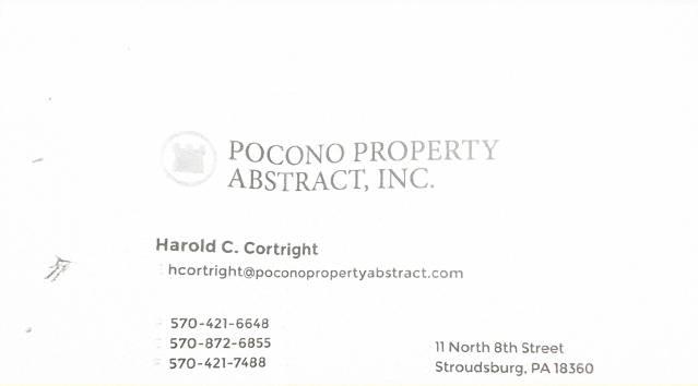 Pocono Property Abstract, Inc.
