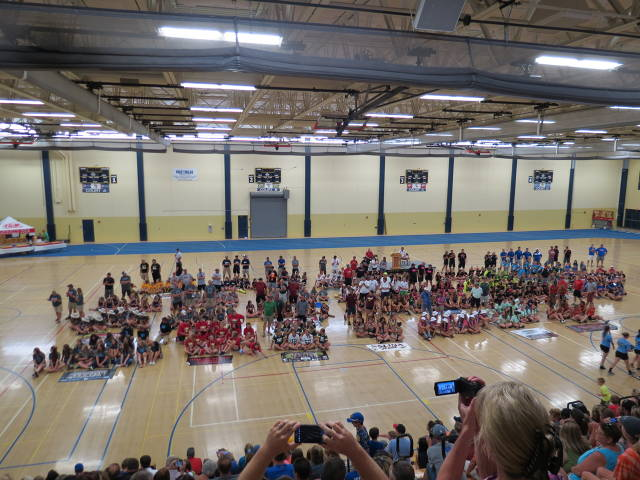 Opening Ceremonies of the ASA Northern National Tournament in Rochester, MN. State Champion Cody Pride 10U Girls represented the State of Wyoming at the Tournament