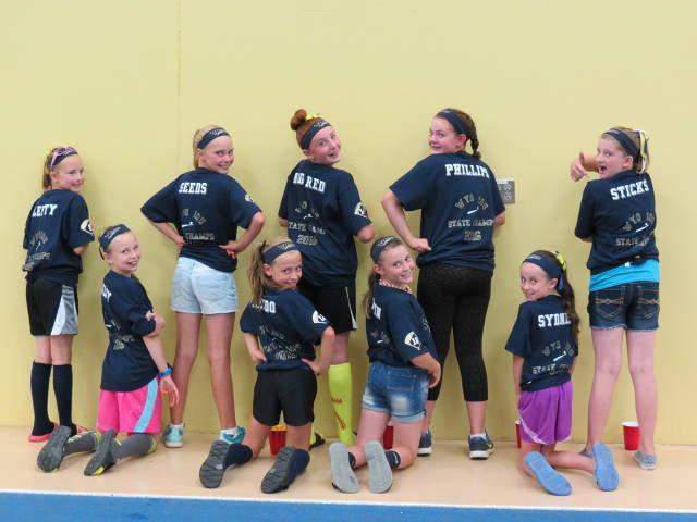 Cody Pride 10U Girls having fun before competing at the ASA Northern Nationals in Rochester, Minnesota