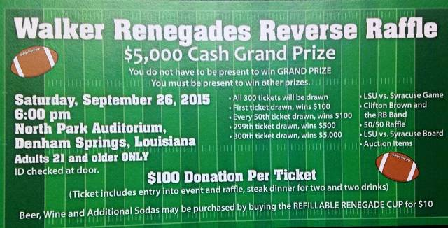 See a Board Member or Concession stand to purchase your Tickets!