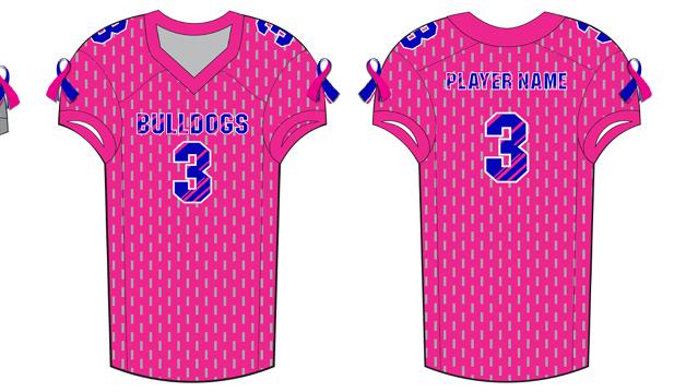 custom pink football jerseys