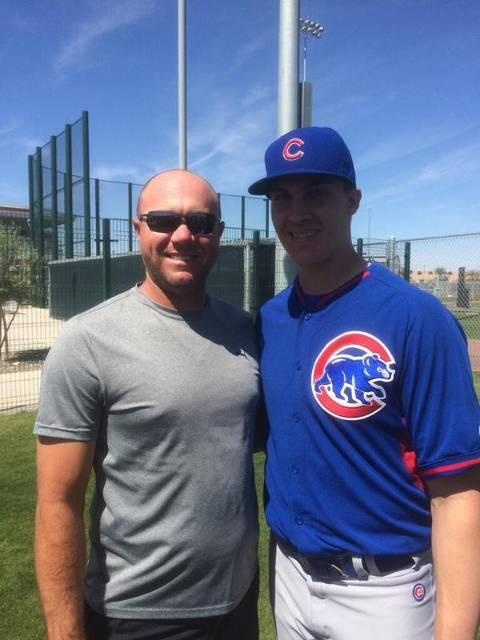 Carson and Coach LC at Spring Training 2015 Arizona.  Carson played and trained under Coach LC in Florida.