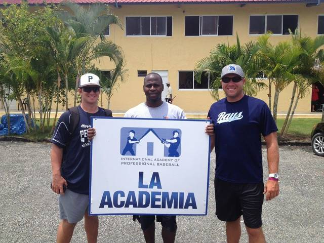 Coach LC and Enterprise State College Head Baseball Coach Bubba Fricter in the Dominican Republic at Major League Baseball Academies.